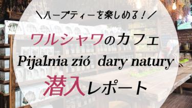 【ワルシャワ】ナチュラルな雰囲気のカフェ「Pijalnia ziół dary natury」潜入レポート!